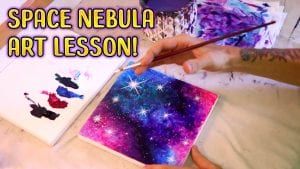 Space Nebula Art Lesson