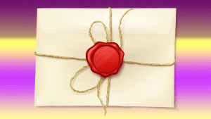 Weekly Words Esoteric Envelope Letter Sealed Secret Message