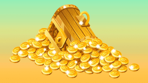 Weekly Words Gold Treasure Chest Money