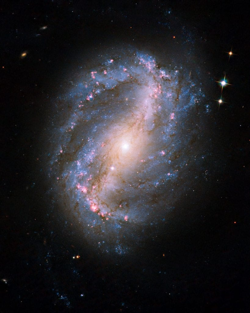 Barred Spiral Galaxy NGC 6217 Universe Space Photo Picture Image