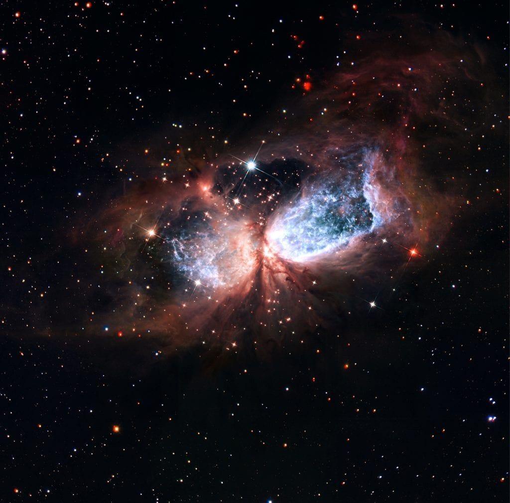 Celestial Snow Angel Reflection Nebula Star Forming Region S106 Universe Space Photo Picture Image