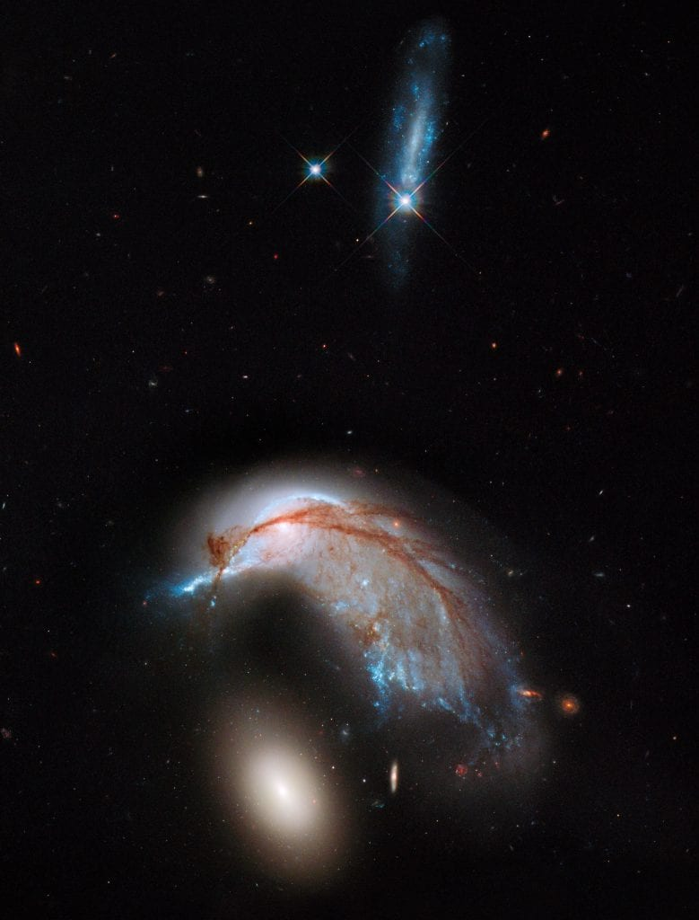 Colliding Galaxy Pair Arp 142 Universe Space Photo Picture Image