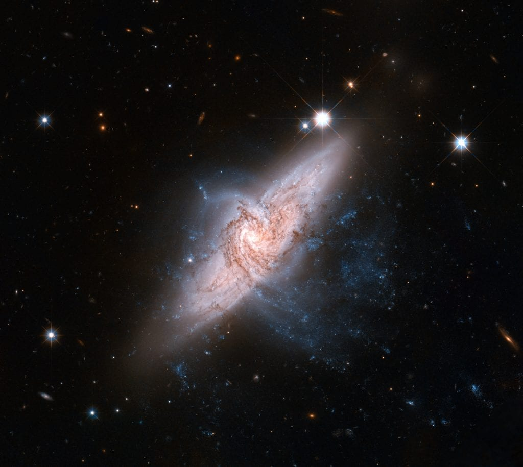 Cosmic Collision of Interacting Spiral Galaxies Universe Space Photo Picture Image