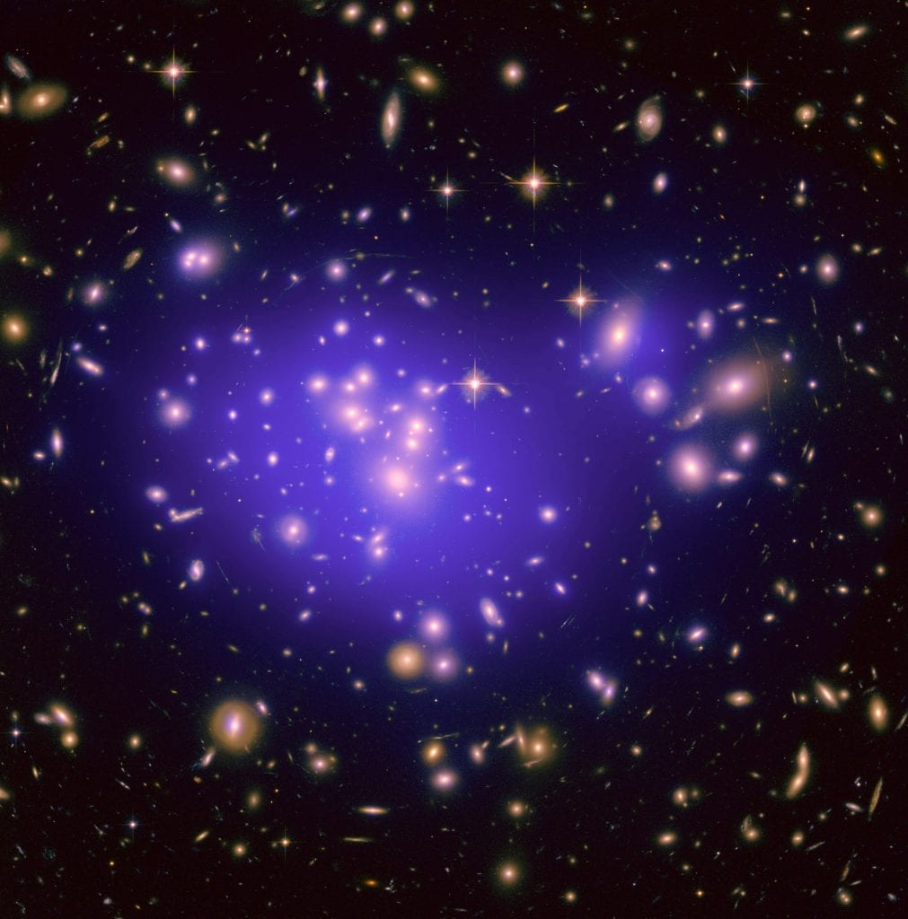 Dark Matter Map in Galaxy Cluster Abell 1689 Universe Space Photo Picture Image