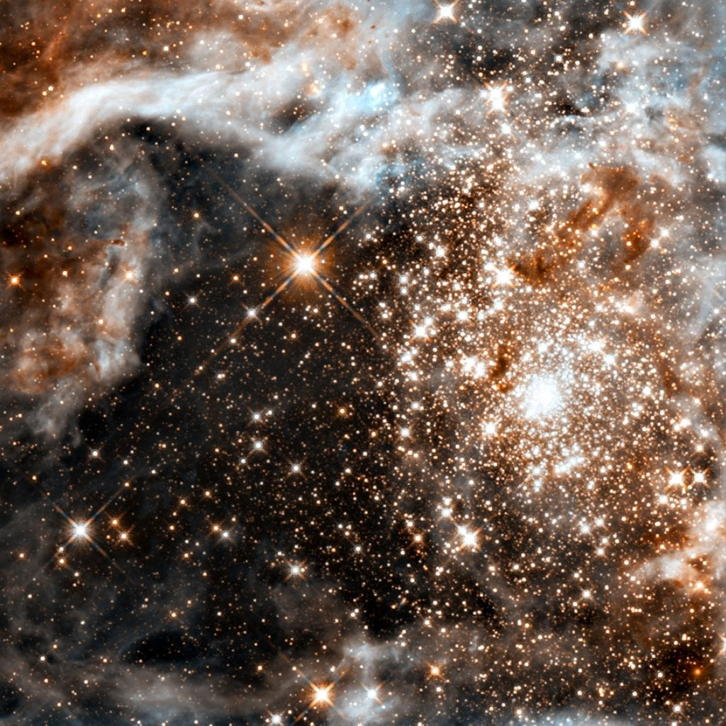 Doradus Nebula Star Cluster in Infrared Universe Space Photo Picture Image