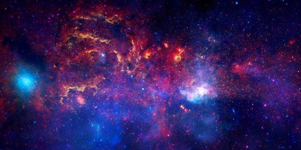 Galactic Center Region of the Milky Way Galaxy Universe Space Photo Picture Image