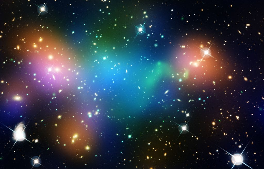 Galaxy Cluster Abell 520 Universe Space Photo Picture Image