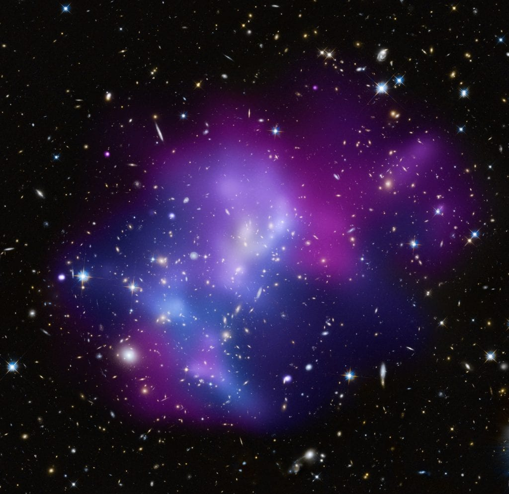 Galaxy Cluster Magnificence J0717A Universe Space Photo Picture Image