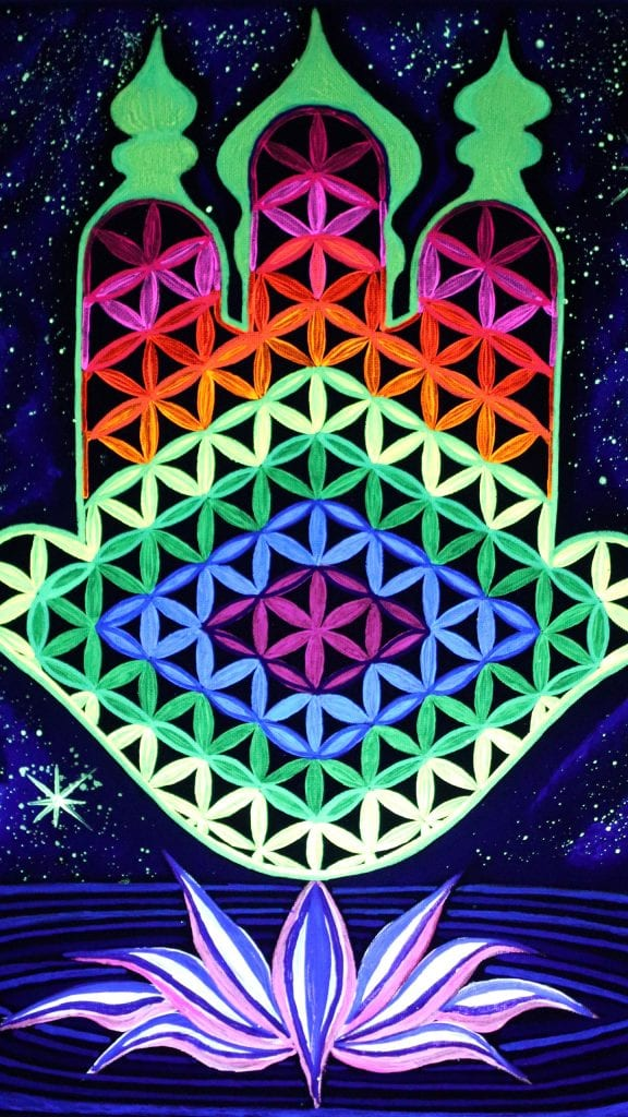 Hamsa Of God BlacklightPhone Wallpaper 1440x2560 1