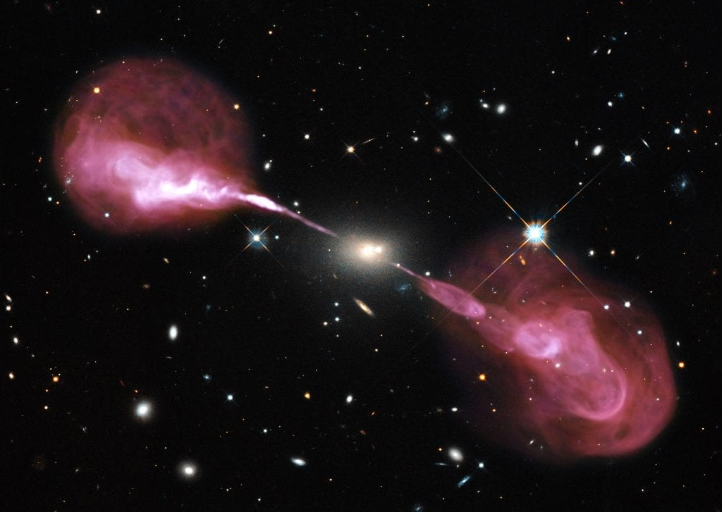 Hercules A Galaxy Quasar Multiwavelength View of Radio Universe Space Photo Picture Image