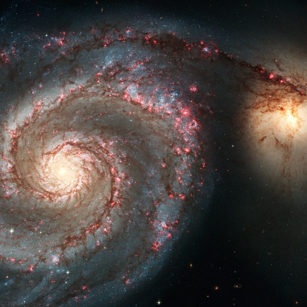 M51 Syphon Spiral Galaxies Universe Space Photo Picture Image