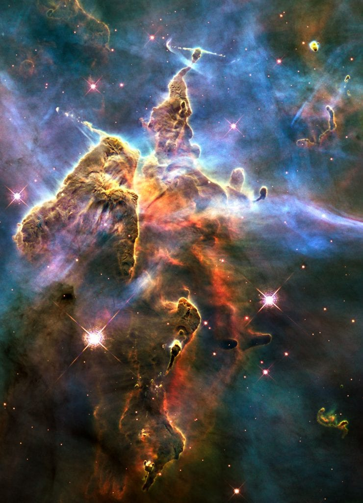 Mystic Mountain Pillar of Jets in Carina Nebula Universe Space Photo Picture Image