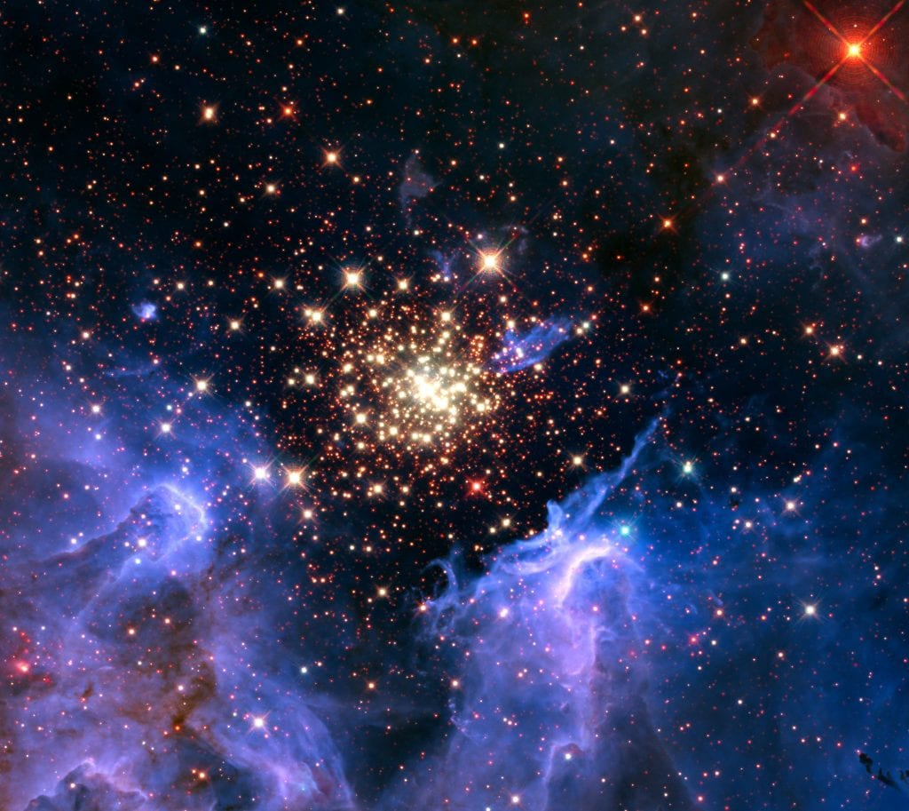 NGC 3603 Hot Starburst Cluster of Celestial Fireworks In Constellation Carina Universe Space Photo Picture Image