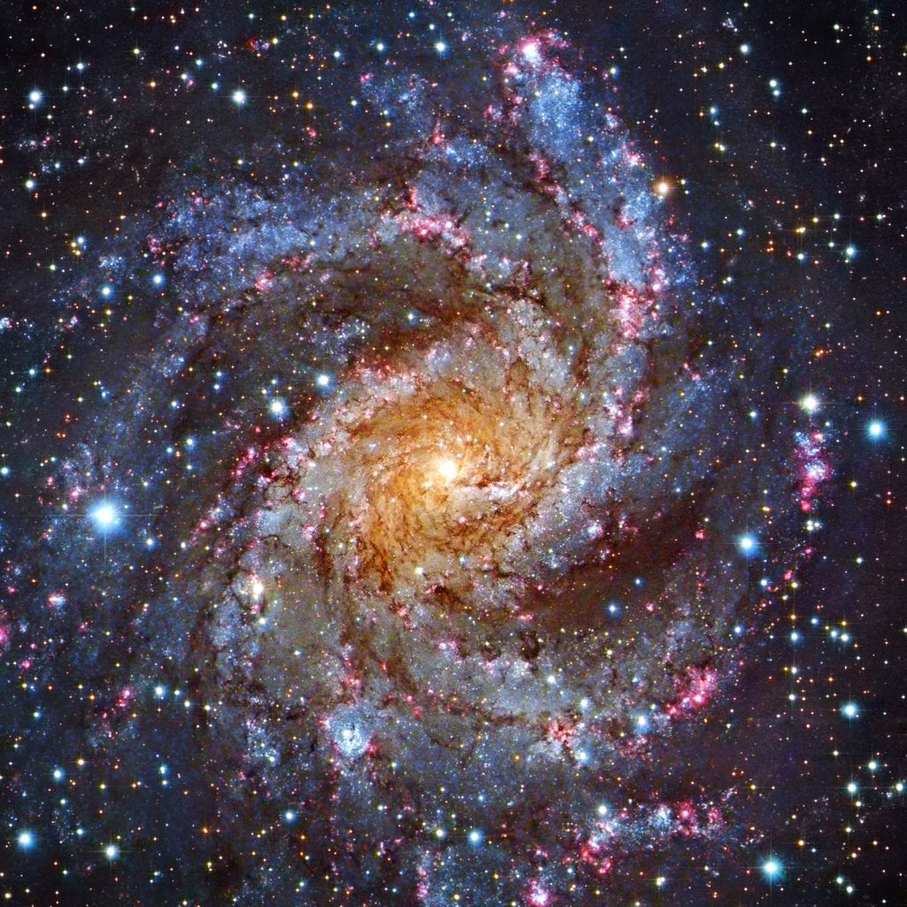 NGC 6946 Subaru Spiral Galaxy Universe Space Photo Picture Image