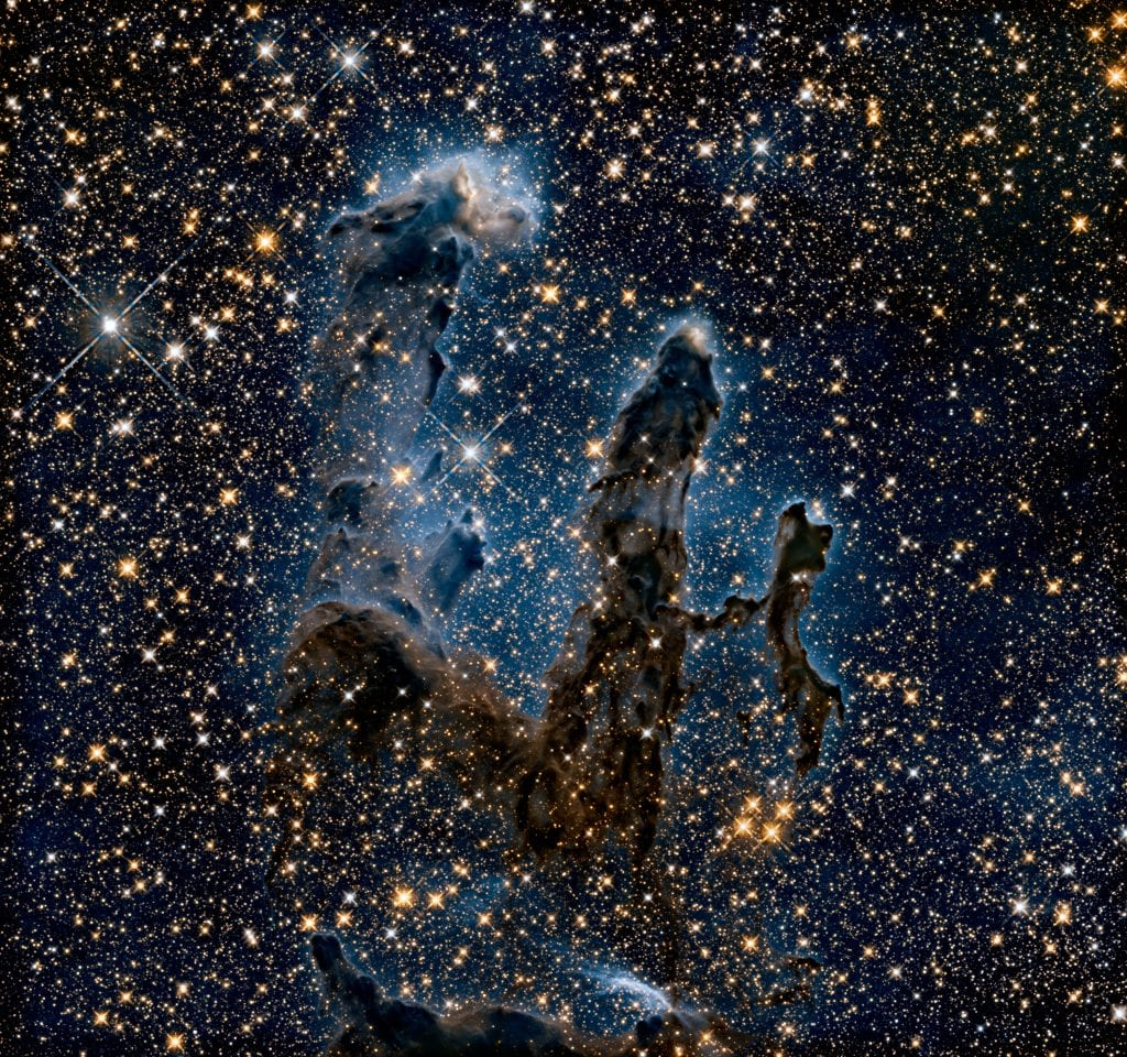 Pillars of Creation Nightshade Nebula Near Infrared View Universe Space Photo Picture Image