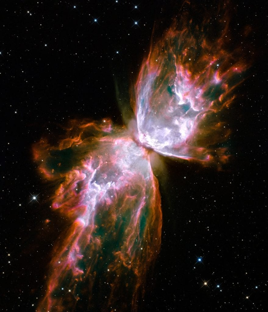 Planetary Butterfly Nebula NGC 6302 In Constellation Scorpius Universe Space Photo Picture Image