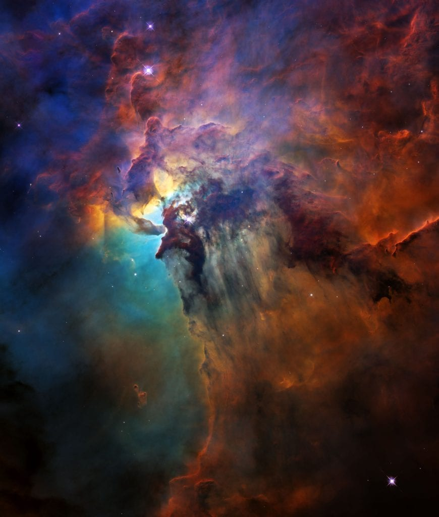 Rainbow Lagoon Nebula Universe Space Photo Picture Image