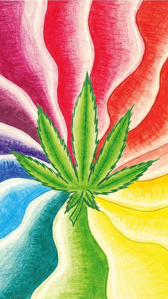 Rainbow Marijuana Phone Wallpaper 1440x2560 1