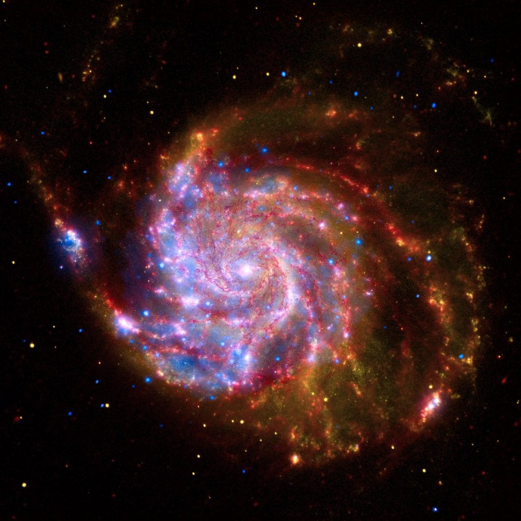 Spiral Galaxy Messier 101 Multiwavelength View Universe Space Photo Picture Image