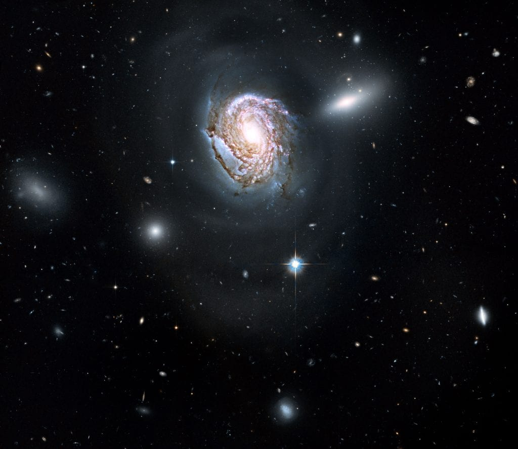 Spiral Galaxy NGC 4911 In Coma Galaxies Cluster Universe Space Photo Picture Image