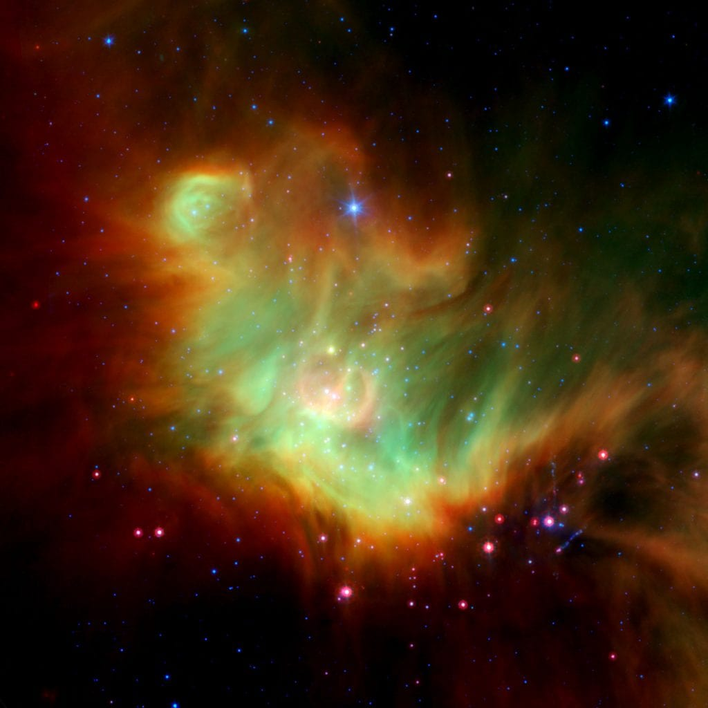 Star Forming Region IC 348 Around Protostar LRLL 54361 Universe Space Photo Picture Image