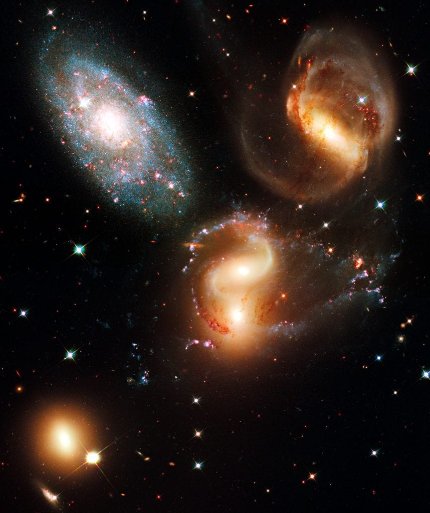 Stephans Quintet Galaxy Cluster In Constellation Pegasus Universe Space Photo Picture Image