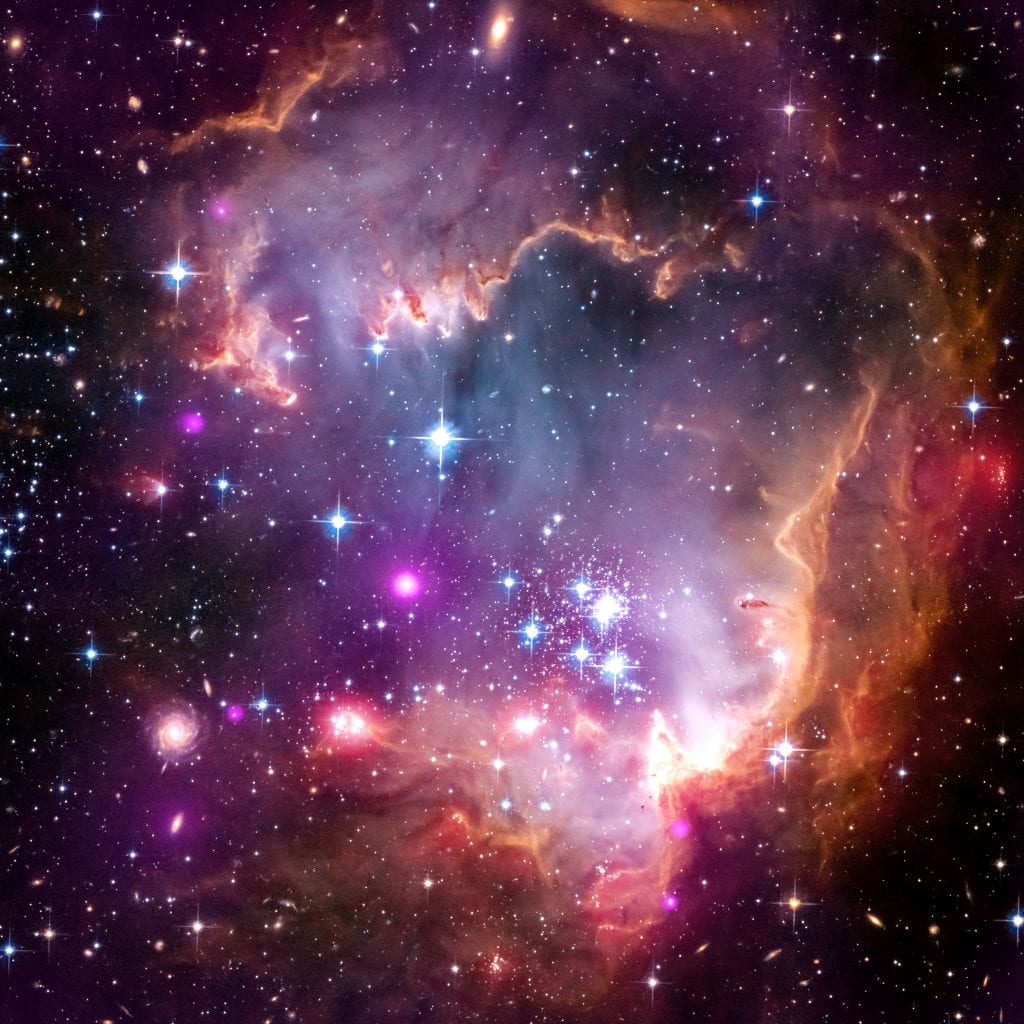 Wings of Love in Magellanic Cloud Nebula Star Cluster Universe Space Photo Picture Image